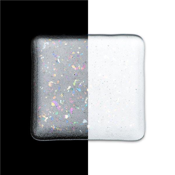 Bullseye Frit - Clear Irid Rainbow - Medium - 2.25kg - Transparent