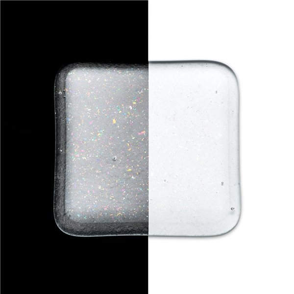 Bullseye Frit - Clear Irid Rainbow - Fine - 450g - Transparent