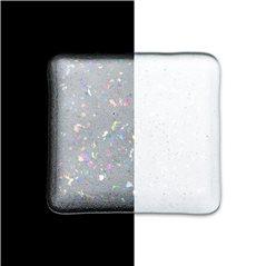 Bullseye Frit - Clear Irid Rainbow - Medium - 450g - Transparent