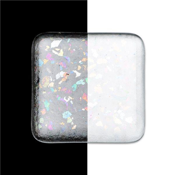 Bullseye Frit - Clear Irid Rainbow - Coarse - 450g - Transparent