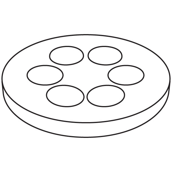 Seder Plate - 31.2x3.5cm - Opening: 6 x 6.6x1.3cm - Fusing Mould
