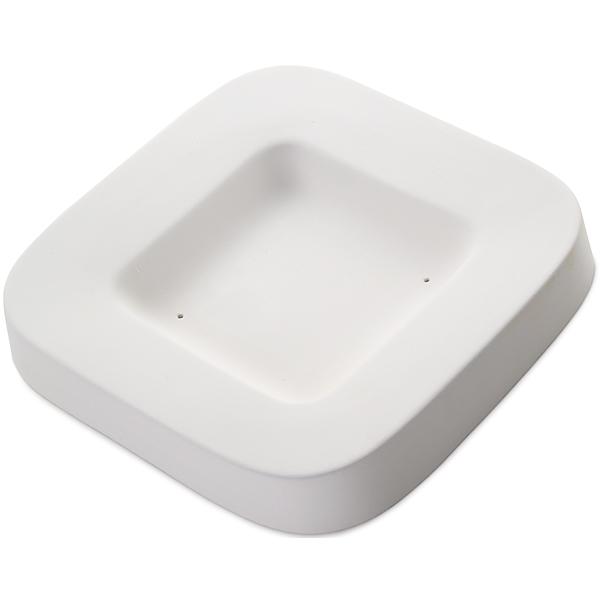 Round Edge Dish - 22.5x22.5x3.5cm - Base: 12.7x12.7cm - Fusing Mould