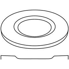 Round Plate - 32.6x1.8cm - Base: 20.3cm - Fusing Mould