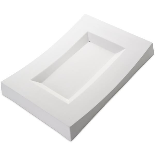 Concave Dish - 35.4x24.2x4.3cm - Basis: 23x13cm - Fusing Form