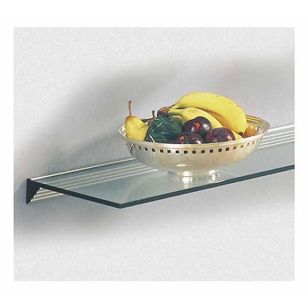 Glass Shelf Support - 60cm - White