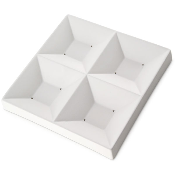 Sushi Four Squares - 17x17x2.2cm - Opening: 8.5x2cm - Fusing Mould