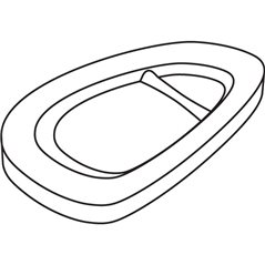 Snack Tray - 25.5x17.5x1.2cm - Base: 19x10.7cm - Fusing Mould