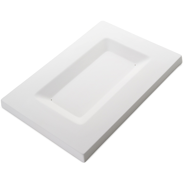 Soft Edge Rectangular Platter - 35.2x24x2.2cm - Base: 25.2x13.5x1.5cm - Fusing Mould