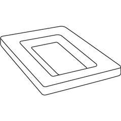 Soft Edge Rectangular Platter - 35.2x24x2.2cm - Base: 25.2x13.5x1.5cm - Fusing Mould