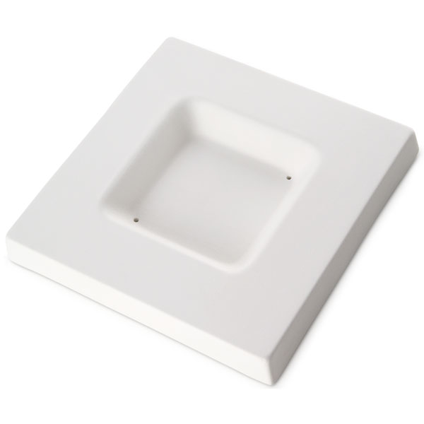 Soft Edge Square Platter - 15.6x15.6x1.8cm - Base: 8x8x1.8cm - Fusing Mould