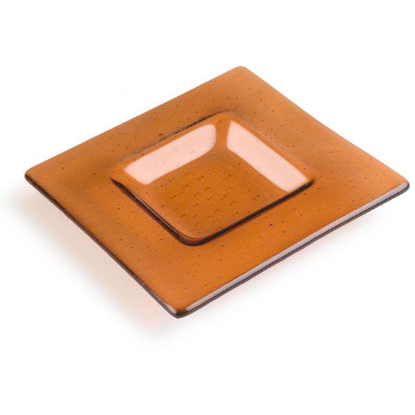 Soft Edge Square Platter - 15.6x15.6x1.8cm - Base: 8x8x1.8cm - Fusing Mould