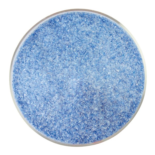 Bullseye Frit - Caribbean Blue Transparent & White Opalescent - 2-Color Mix - Fin - 450g - Streaky