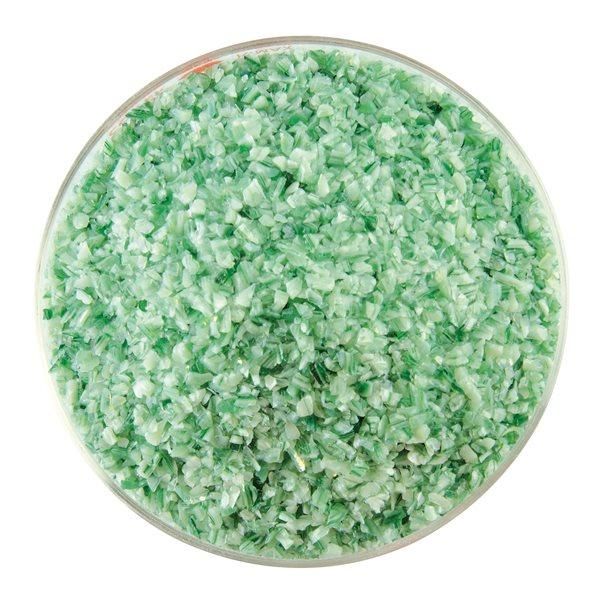 Bullseye Frit - Mint Green Opalescent & Aventurine Green Transparent - 2-Color Mix - Medium - 450g  - Streaky