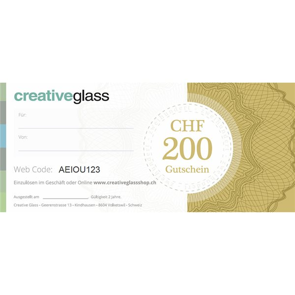 CHF 200 Geschenk Gutschein