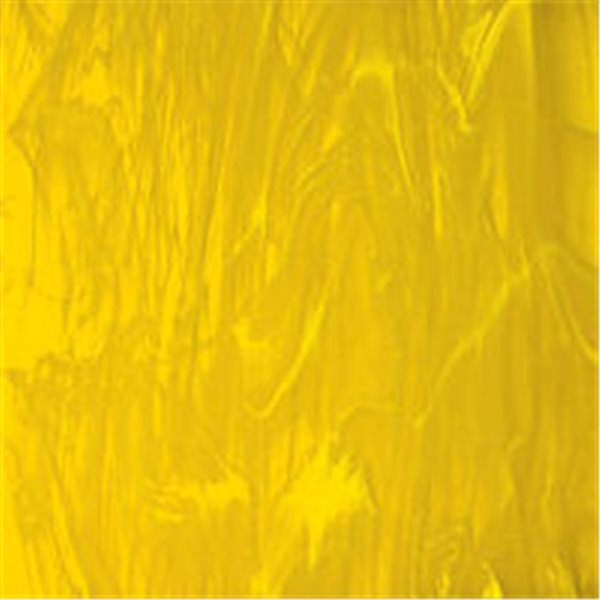 Spectrum Yellow and White Wispy - 3mm - Non-Fusible Glass Sheets