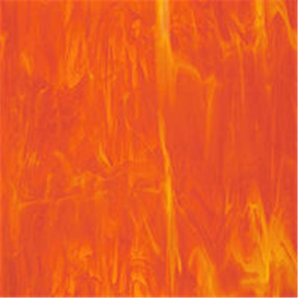 Spectrum Light Orange and White Wispy - 3mm - Non-Fusible Glass Sheets