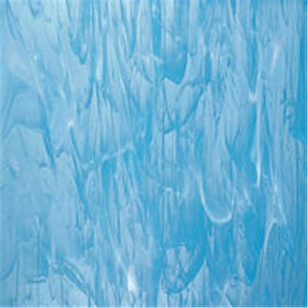 Spectrum Sky Blue and White Wispy - 3mm - Non-Fusible Glass Sheets