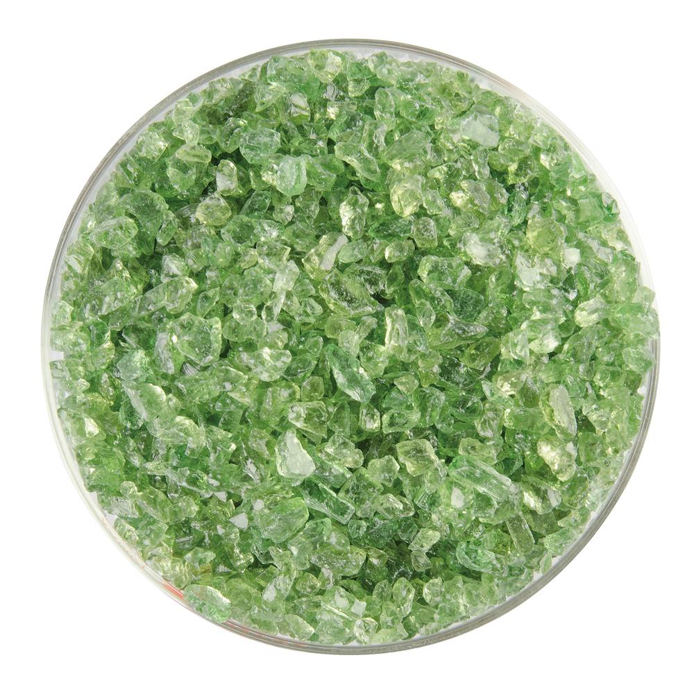 Bullseye Frit - Leaf Green - Coarse - 450g - Transparent