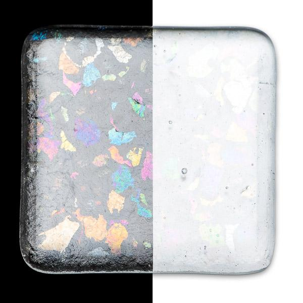 Bullseye Frit - Clear Irid Rainbow - Extra Large - 450g - Transparent